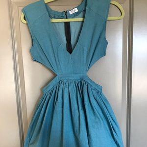 Blue tobi cut out dress